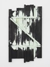 "A painting in Heikes' Z series includes a backwards ""z,"" which alludes to the end of language and the passage of time."