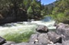 The Mokelumne River flows west from the central Sierra Nevada.