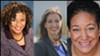 Attorney Pamela Price (left), Mayor Libby Schaaf (center), and activist Cat Brooks (right) are the top candidates in the race.