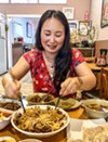 Mary Choi mixes za zang myun.