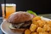 The burger and tater tots at Handlebar.
