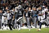 Latavius Murray owned the ground game, hustling for 114 yards and three touchdowns during last night's primetime smackdown of the champion Denver Broncos.