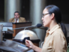 Lailan Huen addresses Councilmember Abel Guillen and the Oakland City Council.