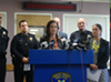 Oakland Mayor Libby Schaaf and City Administrator at a press conference last October.