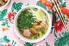 The Phnom Penh noodle soup features a rich, earthy broth that has an appealing peppery punch.