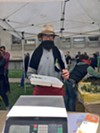 Riverdog Farms owner Tim Mueller says he wanted to set up at the farmers market despite the possibility of a brawl in downtown Berkeley.