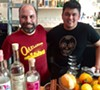 Christ Pastena (left) and a staffer at Calavera in Uptown Oakland.