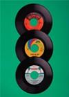 <i>A few of Matt Stout's records.</i>