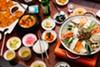 The spread at Daol Tofu, a new Korean spot in Temescal.