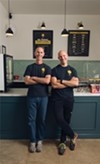 Ari (left) and Andrew Cohen, bringing you vegan ice cream in Emeryville and Albany, courtesy of Mr. Dewie's.