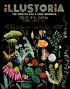 The front cover of<i> Illustoria</i>'s fourth issue, Grow.