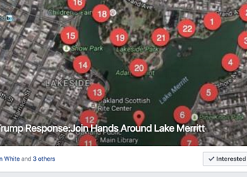 Thousands Plan To Join Hands Around Oakland's Lake Merritt In Protest of Trump on Sunday