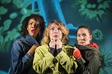 PHOTO COURTESY OF DAVID ALLEN - Elizabeth Carter (left), Lisa Anne Porter, and Charisse Loriaux play concerned parents.