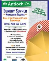 Montclair Village Community Dinner flier - Uploaded by Carolyn Avery