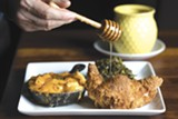 PHOTO BY LORI EANES - PLāYT's fried chicken and mac 'n' cheese.