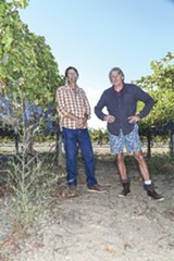 PHOTO BY MARCUS HANSCHEN - Aaron and Noah Taylor of Livermore's Retzlaff Vineyards.