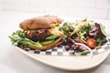 PHOTO BY LANCE YAMAMOTO - The burger uses a housemade patty.