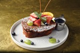 Yummy: mascarpone-stuffed French toast.