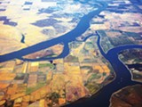 PHOTO BY WORLDISLANDINFO.COM-CREATIVE COMMONS - An aerial view of the Sacramento River Delta.
