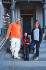 PHOTO BY LANCE YAMAMOTO - Emilio Hernandez, Lillian Phaeton, and Christine Hernandez of 1432 12th Ave.