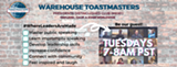 Contact us for the Zoom link :) - Uploaded by WarehouseToastmasters