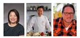 Grace Li, CEO of On Lok; Chef Martin Yan; KCBS Foodie Chap Liam Mayclem - Uploaded by Danielle Simmons