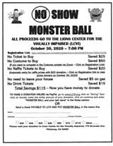 Flyer for No Show Monster Ball - Uploaded by RichardGrange