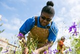BERT JOHNSON - WOW Farm teaches gardening skills to students, such as Manaiya Scott.