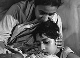Karuna Bannerjee (above) and Pinaki Sengupta (below) in Aparajito from The Apu Trilogy.