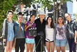 SUSAN DAVIS - Filmmaker Barbara Sonneborn (center) has donated her time to Camp Reel Stories.