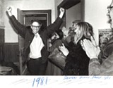 ROB SWANSON/FILE PHOTO - Sanders celebrates after his first mayoral victory in 1981.