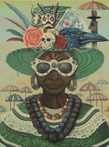 COURTESY PAUL LEWIN. - One of Paul Lewin's elaborate paintings.
