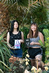 BERT JOHNSON - Mina Jameson (L) and Emily Kim were the head editors of Enizagam issue nine.