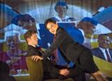 DAVID ALLEN - Devin O'Brien and Jamie Jones in Aurora Theatre's upcoming comedy Mud Blue Sky.