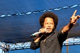 ADRIAN SPINELLI - Boots Riley came from down the street.