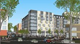 SUNFIELD DEVELOPMENT - 1800 San Pablo is one of the new Oakland housing developments that prioritize parking.