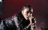 KEVIN FRANCIS BARRETT - FKA Twigs performs during the Treasure Island Music Festival.
