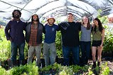 BERT JOHNSON - Members of the Planting Justice team in a green house on the El Sobrante farm site.