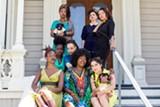 ROXANNE PASIBE - Regina Evans (center) with models Chinasa Porter, Olivia Krause, Jasmine Gaines, Mesiah Burgiaga-Hameed, Sarah Melekova, Nesbyth Rieman, and JahniahOmi Bahari.
