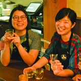 UMAMI MART - Umami Mart co-owners Kayoko Akabori and Yoko Kumano enjoy some sake.