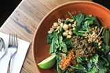 ANDRIA LO - Not your everyday kale salad: the tea leaf kale salad at Teni East Kitchen.