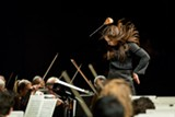 COURTESY DAVE WEILAND - Berkeley Symphony music director Joana Carneiro in the midst of conducting. Courtesy Squid Inc.