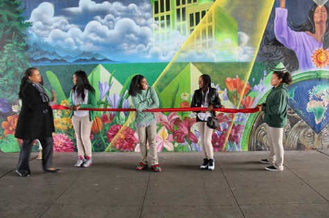 Unveiling the Market Street mural