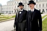 Viggo Mortensen as Sigmund Freud and Michael Fassbender as Carl Jung in A Dangerous Method.