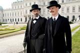 Viggo Mortensen as Sigmund Freud and Michael Fassbender as Carl Jung in A Dangerous Method.