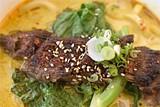CHRIS DUFFEY - Vivid flavors: Niman Ranch beef udon.