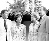 WIKIMEDIA COMMONS - When he was governor of California, Ronald Reagan (shown here with his wife Nancy and the Nixons in 1970) increased taxes in order to balance the state budget. Today, that seems impossible.