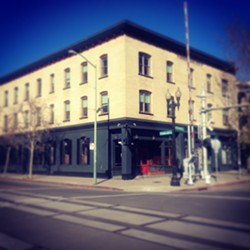 The exterior of Overland, which aims to be the new home of the Bay Area's country music scene. - OVERLAND