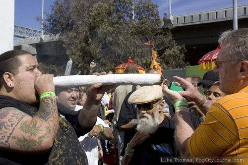 Yup, a quarter-pound joint. This ish is getting out of hand.