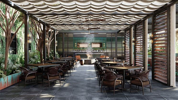 Andiron's patio will be a relaxing escape. - RENDERING BY AVROKO